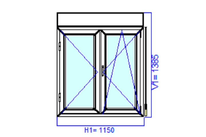 Two Axial window